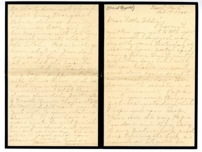 Letter from Clara Comstock Russell to Charles C. Russell (October 19, 1900)