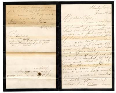 Letter from Unknown to Clara Comstock Russell (January 24, 1883)