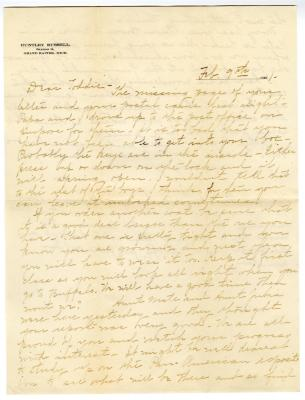 Letter from Clara Comstock Russell to Charles C. Russell (February 9, 1901)