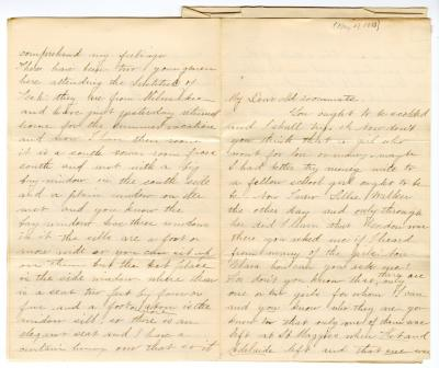 Letter from Unknown to Clara Comstock Russell (May 27, 1883)