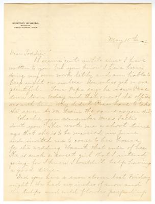 Letter from Clara Comstock Russell to Charles C. Russell (May 15, 1902)