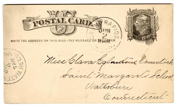 Letter from Unknown to Clara Comstock Russell (June 1, 1880)