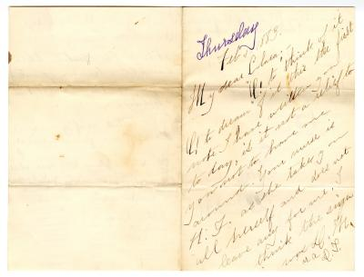 Letter from Unknown to Clara Comstock Russell (February 1, 1883)