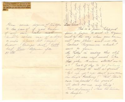 Letter from Unknown to Clara Comstock Russell (n.d.)