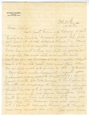 Letter from Clara Comstock Russell to Charles C. Russell (February 26, 1901)