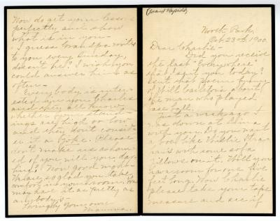 Letter from Clara Comstock Russell to Charles C. Russell (October 23, 1900)
