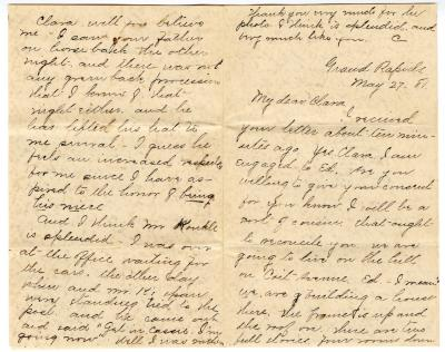 Letter from Cassie to Clara Comstock Russell (May 27, 1881)