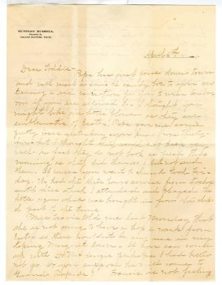 Letter from Clara Comstock Russell to Charles C. Russell (April 6, 1901)