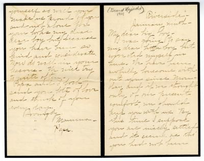 Letter from Clara Comstock Russell to Charles C. Russell (January 9, 1901)