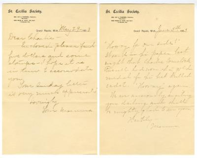 Letter from Clara Comstock Russell to Charles C. Russell (June 5, 1903)