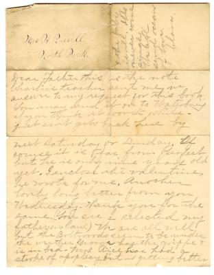 Letter from Charles C. Russell to Huntley Russell (n.d.)