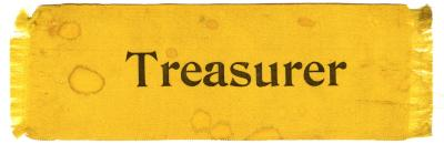 Treasurer ribbon