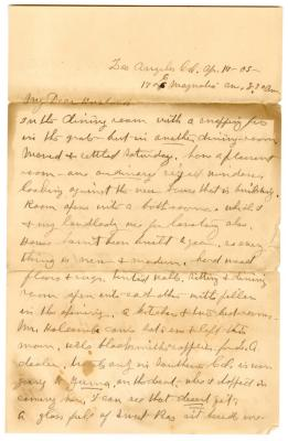 Letter from Emily Burton Ketcham to Smith G. Ketcham (April 17, 1905)