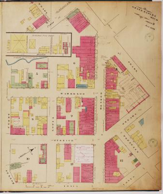 Sheet three of the 1874 Sanborn Fire Insurance map for Grand Rapids, Michigan