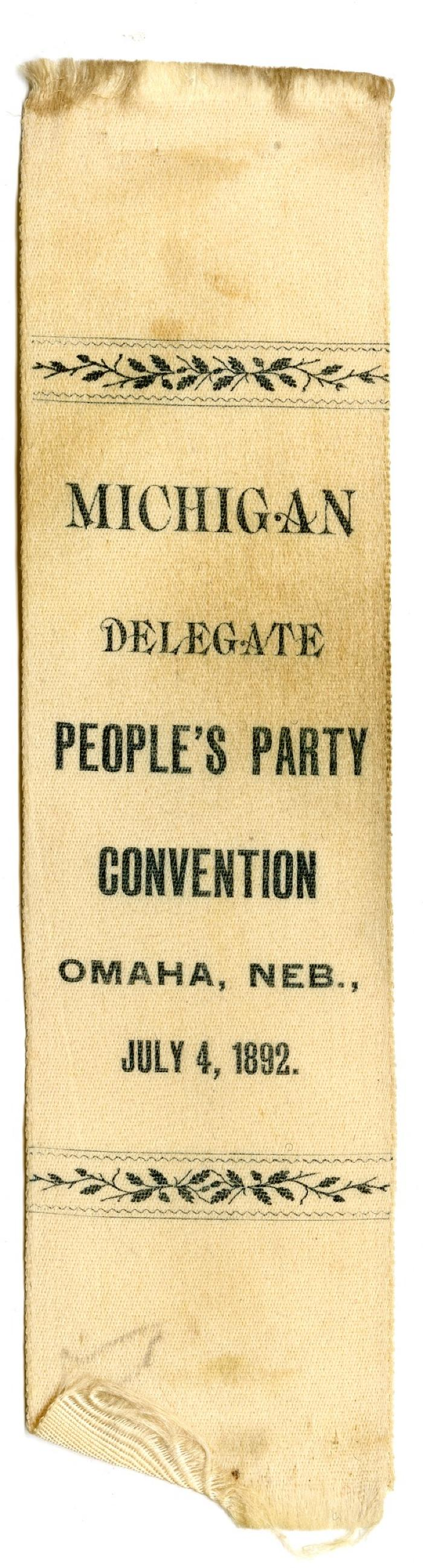 People's Party Convention ribbon