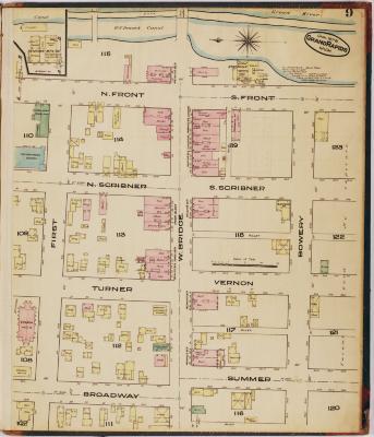 Sheet nine of the 1878 Sanborn Fire Insurance map for Grand Rapids, Michigan