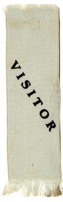 Visitor ribbon