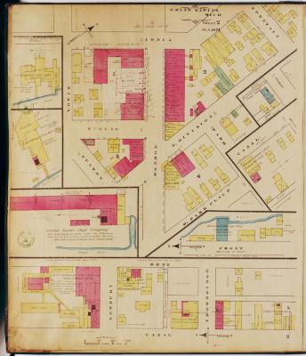 Sheet two of the 1874 Sanborn Fire Insurance map for Grand Rapids, Michigan