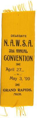 N.A.W.S.A. delegate ribbon