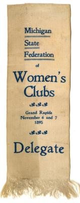 Michigan State Federation of Women's Clubs ribbion