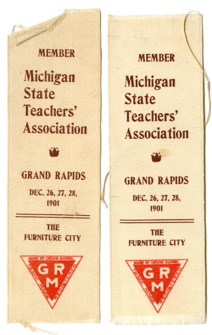 Michigan State Teachers' Association ribbon