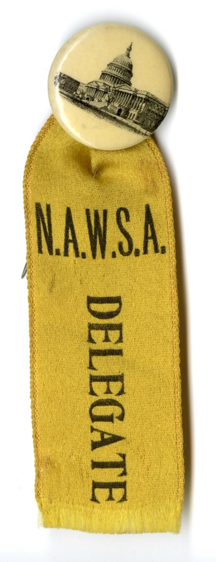 N.A.W.S.A. delegate button and ribbon