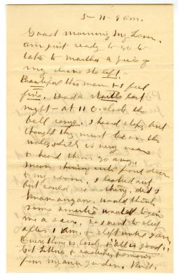 Letter from Emily Burton Ketcham to Smith G. Ketcham (May 11, 1905)
