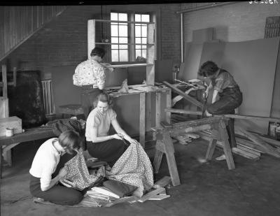 Young Women Working