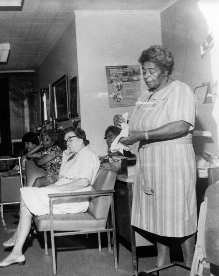 Seated women