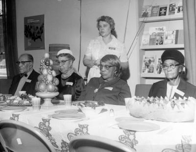 Senior citizens at table