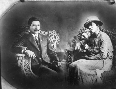 Portrait of man and woman