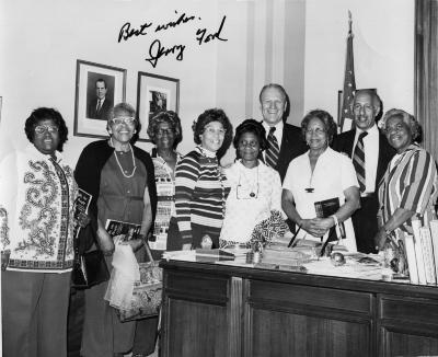 William Glenn with Gerald Ford