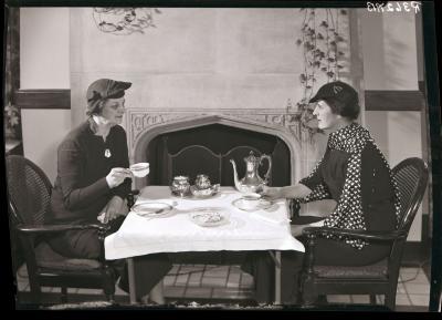 Women at tea table