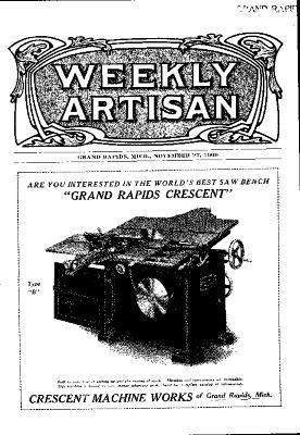 Weekly Artisan, November 27, 1909