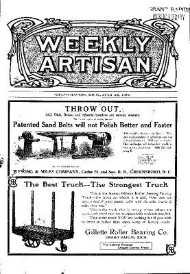 Weekly Artisan, July 24, 1909