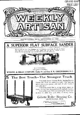 Weekly Artisan, September 11, 1909