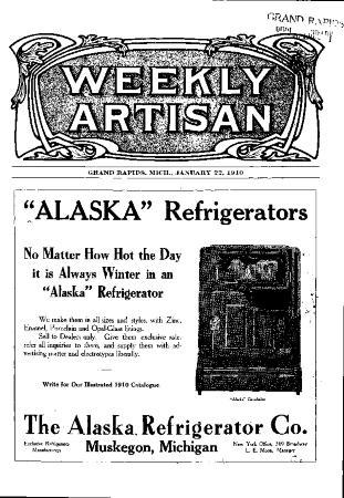 Weekly Artisan, January 22, 1910