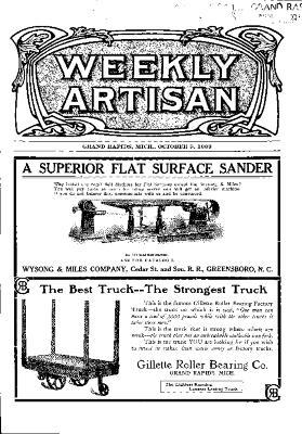 Weekly Artisan, October 9, 1909
