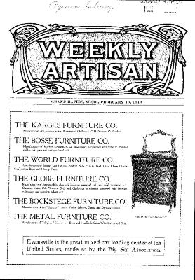 Weekly Artisan, February 19, 1910