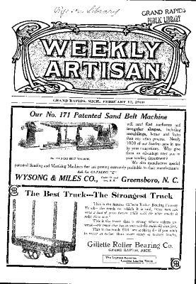 Weekly Artisan, February 12, 1910