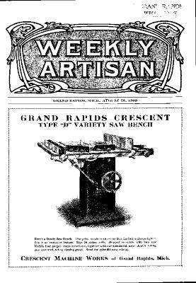 Weekly Artisan, August 28, 1909