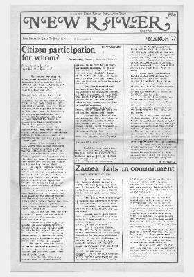 New River Free Press, March, 1977