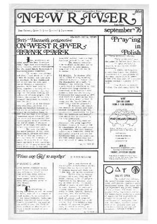 New River Free Press, September, 1976