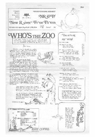 New River Free Press, October, 1975
