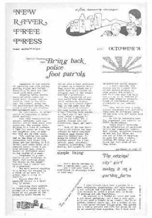 New River Free Press, October, 1974
