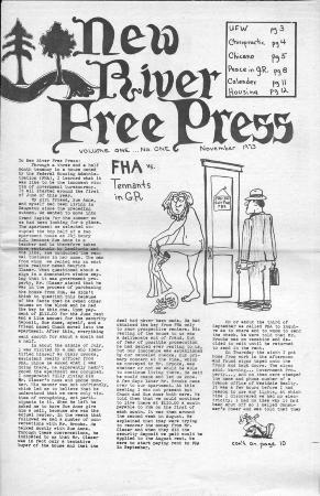 New River Free Press, November, 1973