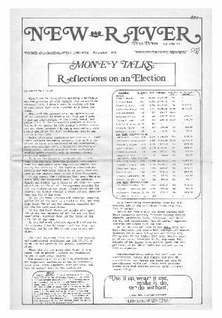 New River Free Press, November, 1975