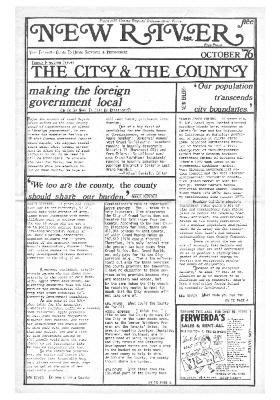 New River Free Press, October, 1976