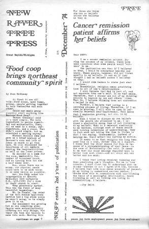 New River Free Press, December, 1974