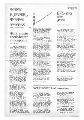 New River Free Press, March, 1975